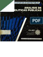 Angel Alvarez Edo. Pp y Gp Analisis de Politicas Publicas