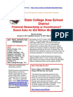 SCASD Financial Stewardship or Financial Incontinence