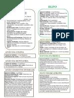 D&D 5E - Resumo Das Raças - Biblioteca Élfica