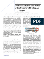 Thermal and Structural Analysis of Gas Turbine Blade With Varying Geometry of Cooling Air Passage