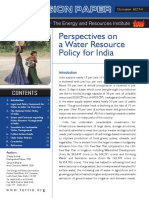 Prespective on Water Resource Policy in India