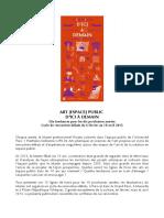 ART [ESPACE] PUBLIC D'ICI À DEMAIN