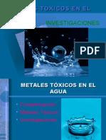 Metales Tóxicos en El Agua