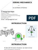 Basics and Statics of Particles - Unit I - GE6253