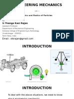 Basics and Statics of Particles - Unit I - GE6253