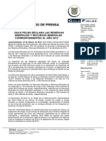 02 24 February 2014 Gold Fields Declares 2013 Mineral Reserves Mineral Resources Spanish
