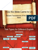 14 Recent Translations of the English Bible