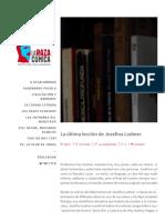 La Raza Cómica _ La Última Lección de Josefina Ludmer- Luis Martín Cabrera