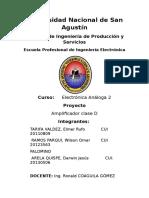 Informe Amplificador Clase d