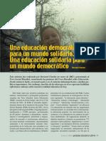 B. Charlot Quehacer No 87 Una Educacion Democratica Para Un Mundo Solidario