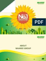 Corporate Presentation WAAREE Corporate Profile