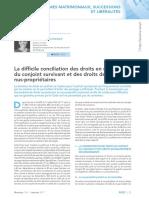 Droits en Usufruit Du Conjoint Survivant_Revue Lamy Droit Civil_janvier 2017