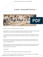 El High School de David – JóvenesADG Semana 1 _ Ama a Dios Grandemente