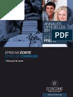 Annale Ecricome Prepa 2011 Resume-De-texte