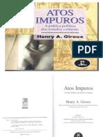 ATOS IMPUROS (A Prática Política dos Estudos Culturais - Henry A Giroux - 2003)
