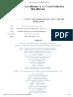 Constitucionalismo e as Constituições Brasileiras
