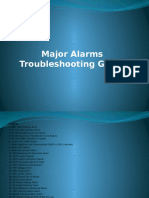 Major Alarms Troubleshooting Guide.