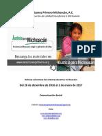Noticias más relevantes del sistema educativo michoacano al 2 de enero de 2017