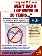 Glass Water Sales Letter