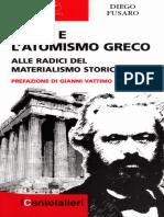 Diego Fusaro - Marx e l'Atomismo Greco [Grattacielo]
