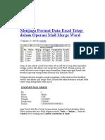 Menjaga Format Data Excel Tetap Dalam Operasi Mail Merge Word