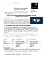 Guidance on English Language Requirements and Test Waivers