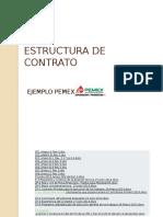 Estructura de Contrato Pemex