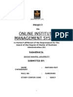 52637986 Institute Management System Report