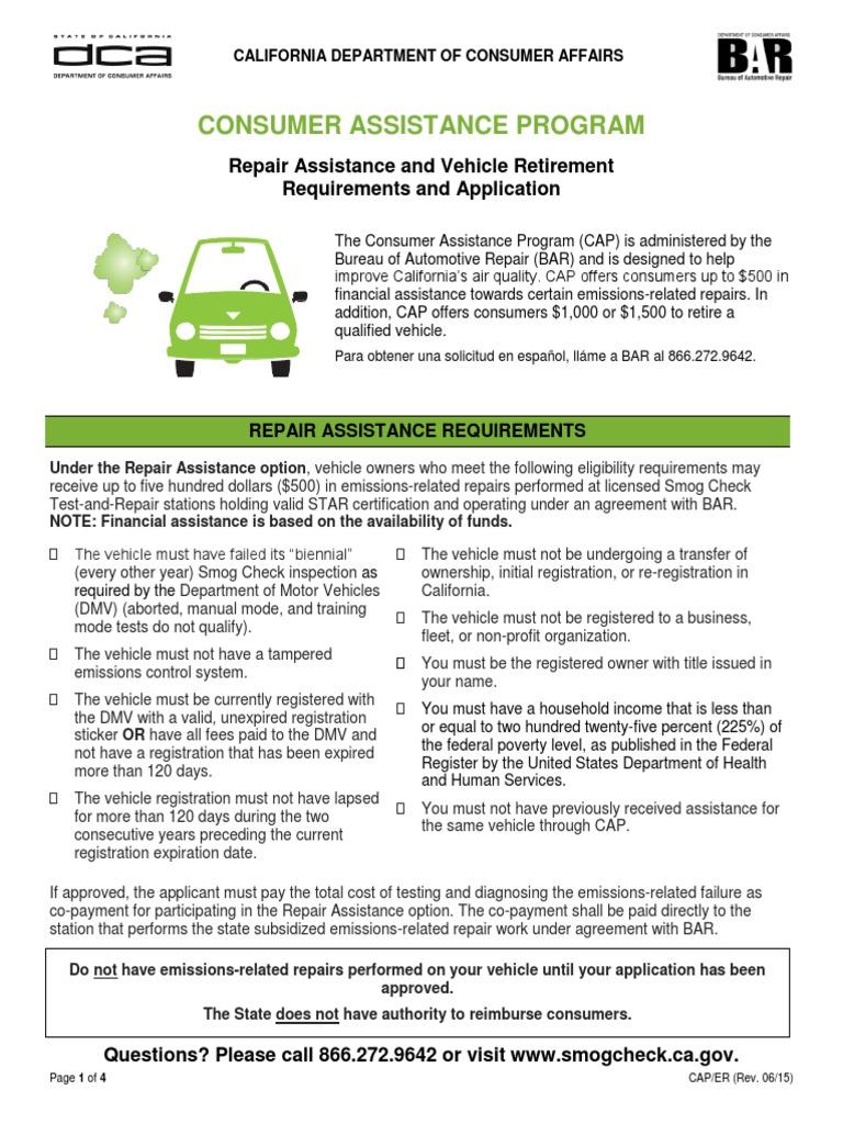 Car Retirement Program Ca >> Cap Eligibility Requirements Final Department Of Motor