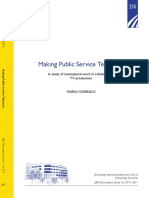 Making Public Service Television - Maria Norbäck