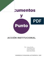 02 01 22102016 Accion Institucional Documentos y Punto