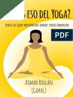 Qué es eso del Yoga
