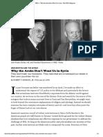 RFK Jr Politico Why Arabs Dont Trust America