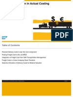 Freight Integration in Actual Costing