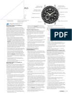 Citizen Satelite Wave F150 Abbr Instructions FR CA