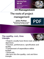 The Roots of Project Management