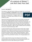 John T. Reed's Analysis of Robert T. Kiyosaki's Book Rich Dad, Poor Dad 2