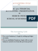 Accounting Cycle Upto Trial Balance