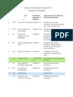 BIOL A288 Schedule Spring2017