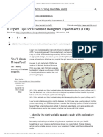 8 Expert Tips for Excellent Designed Experiments (DOE) _ Minitab
