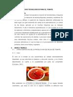 Procesos Tecnologicos Para El Tomate