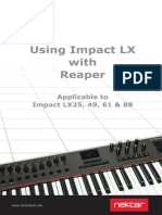 Using Impact LX With Reaper