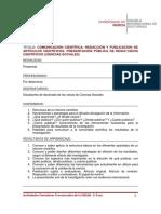 Comunicación Cientifica (Ciencias Sociales)