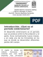 Comunicación y Regulación Durante El Periodo Embrionario.