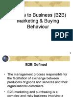B2B Marketing & Buying Behavior