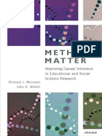 Richard J. Murnane, John B. Willett Methods Matter Improving Causal Inference in Educational and Social Science Research