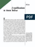 Orígenes Del Republicanismo de Simón Bolívar . Charles Lancha