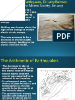 The Arithmetic of Earthquakes