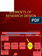 Lesson No 5 - Elements of Research Design