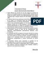 Comunicado de Prensa Minsa Moreno- 2 01 17